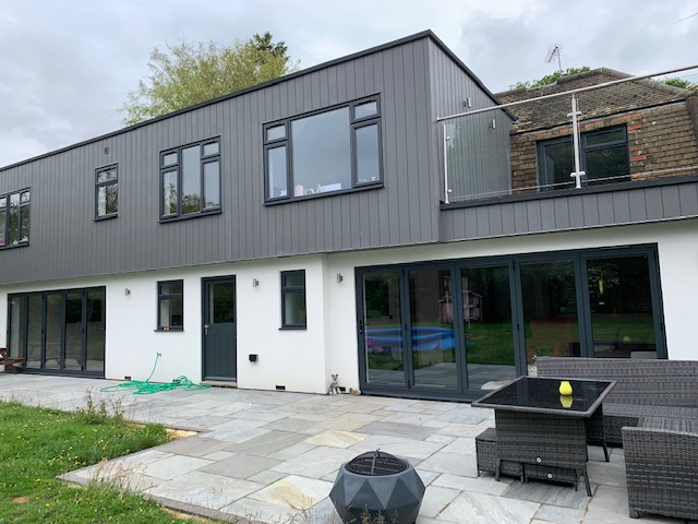Modern extension on a period house, Oak Tree House